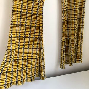 Funky yellow plaid pants- PRICE IS FIRRRRM